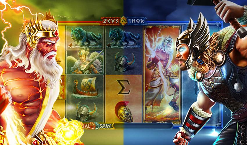 Logo 2 Gods Zeus VS Thor