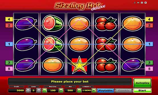 sizzling hot deluxe free