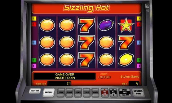 Screenshot Logo Sizzling Hot